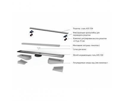 Желоб водосток C1 Brise 500 матовый вертикальный