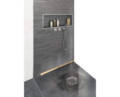 Желоб BERGES водосток пристенный Wall 600 золотой глянцевый вертикальный