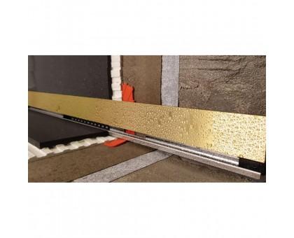 Желоб BERGES водосток пристенный Wall 1000 золотой глянцевый боковой