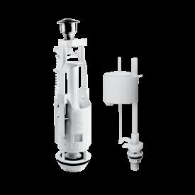 Комплект арматуры Eko 21.1 двухкнопочный, нижний клапан, латунный штуцер
