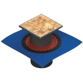 Трап водосток ZENTRUM Keramik 150х150 вертикальный