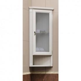 Шкаф Клио подвесной угловой, правый, с матовым стеклом Opadiris Z0000003923
