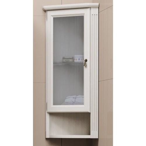 Шкаф Клио подвесной угловой, левый, с матовым стеклом Opadiris Z0000004981