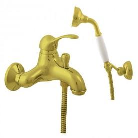 Смеситель RAV Slezаk для ванной, с душевым комплектом, лейка метал., держатель подвижный L554.5/2Z