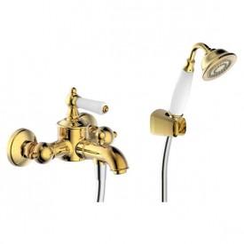 Смеситель для ванны с коротким изливом с аксессуарами Bravat Art F675109U-B